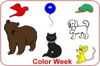 Toddler January Poster Week 3 Color week lesson plan