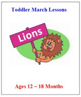 Younger Toddler March Curriculum Lessons Plans, Hands on Activities