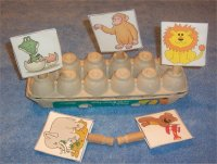 Zoo Animals Peg Board From Zoo Theme