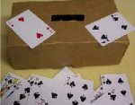 Playing cards toddler game