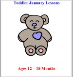 Younger Toddler January Curriculum Lessons Plans, Hands on Activities