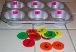 Preschool Muffin Tin Numbers
