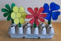 Flower Garden Craft for Color Week Theme