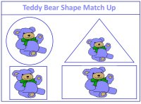 Teddy Bear Shape Match Up