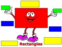 Preschool January Shape Rectangle display poster