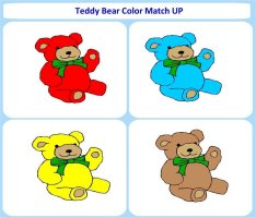 Teddy Bear Color Match Up Game