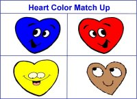 Valentine Theme Heart Color Match Up Game