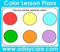 Color Theme Preschool Activities Ideas Lesson Plans